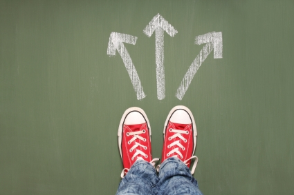 Photo of arrows: Which way now?
